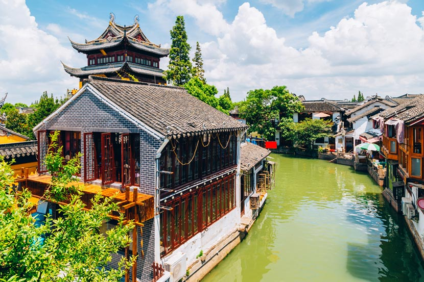 La città vecchia di Shanghai