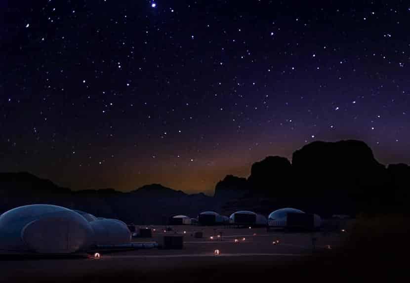 Notte in tenda nel deserto di Wadi Rum