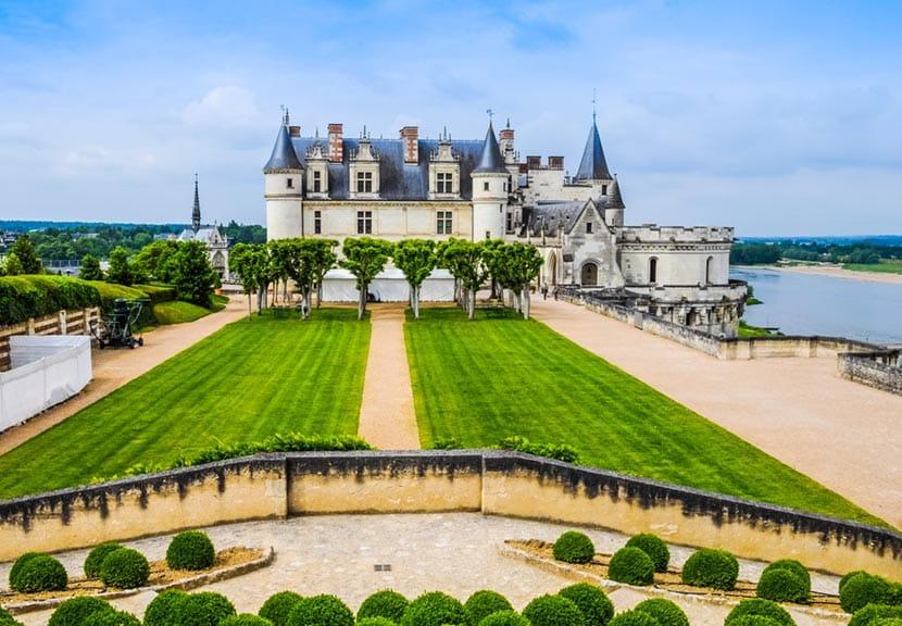 Castello Amboise nella Valle della Loira