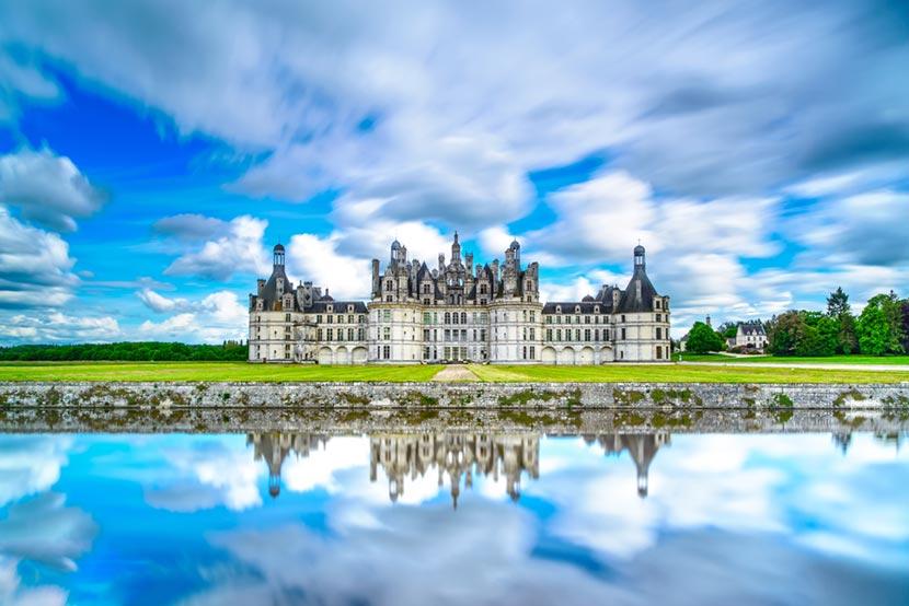 Castello di Chambord nella Valle della Loira