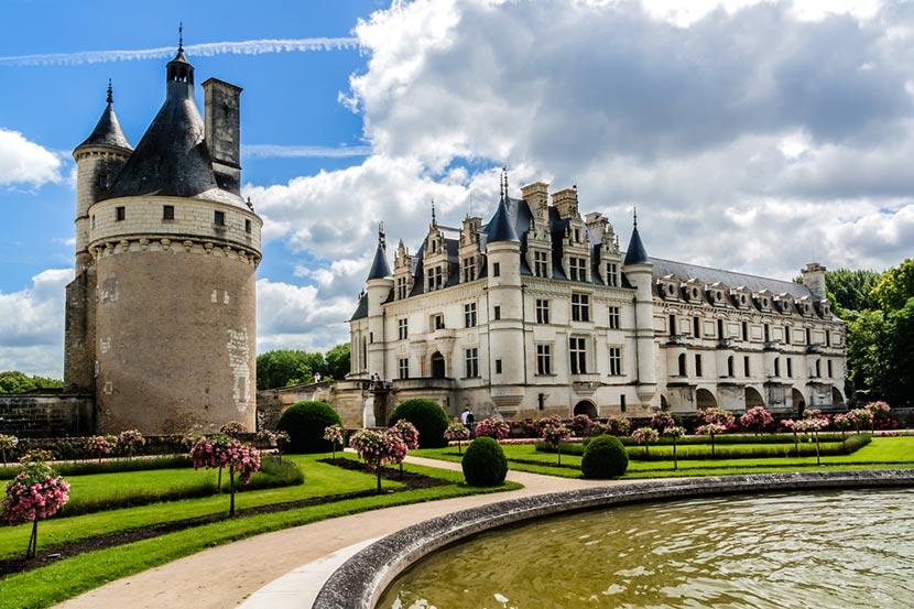 Castello Chenonceau nella Valle della ALoira