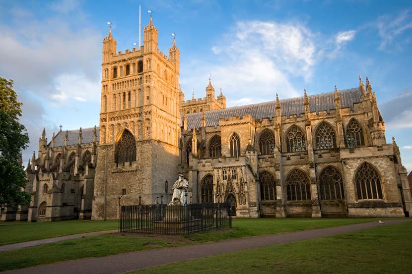Cattedrale di Exeter in Cornovaglia