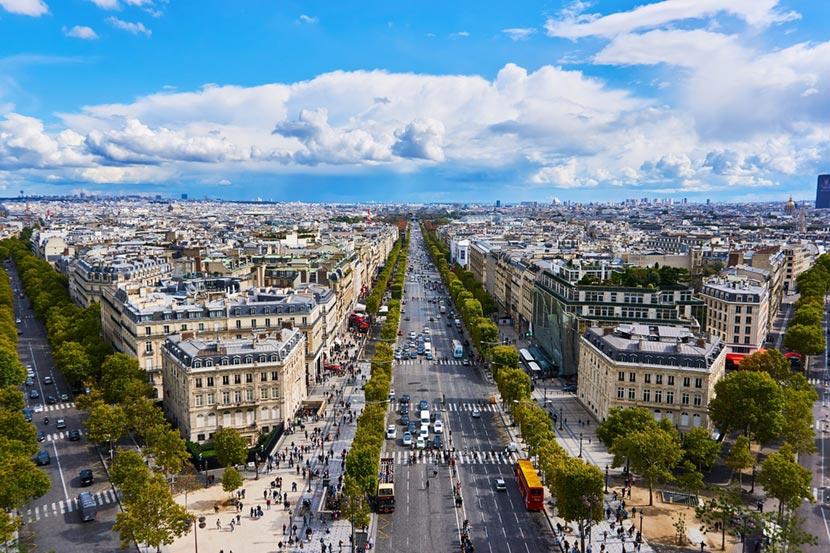 Champs Elysees a Parigi