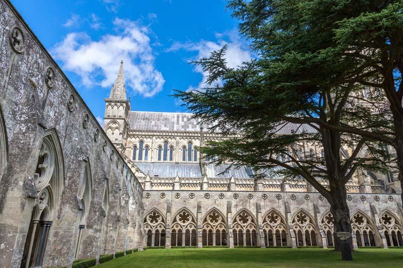 Chiostro della Cattedrale di Salisbury in Cornovaglia