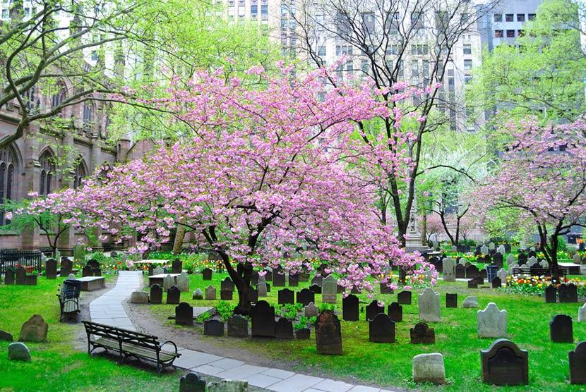 Cimitero inglese di Trinity Church a New York