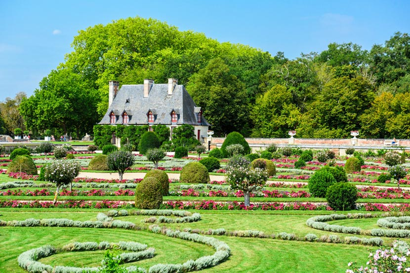 Giardino Castello Chenonceau nella Valle della Loira