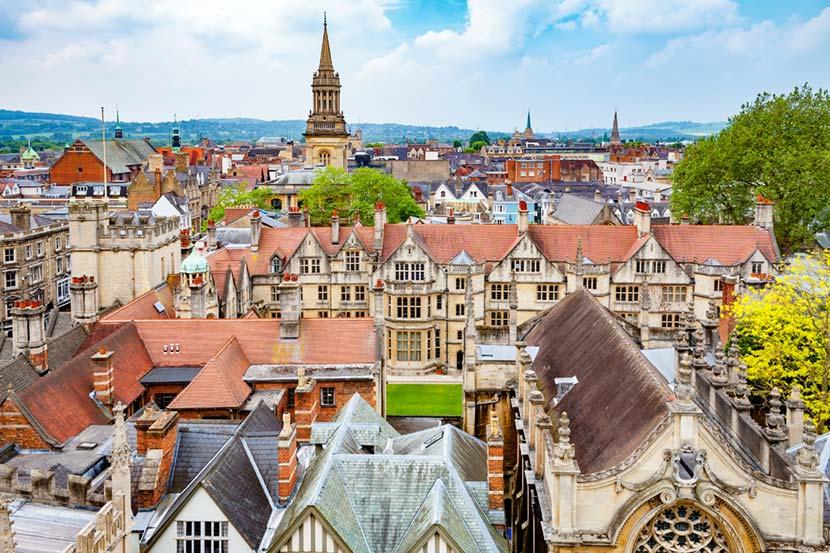 Panorama della città di Oxford