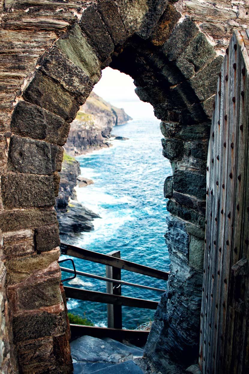 Il Castello di Tintagel affacciato sull'Oceano Altlantico 2