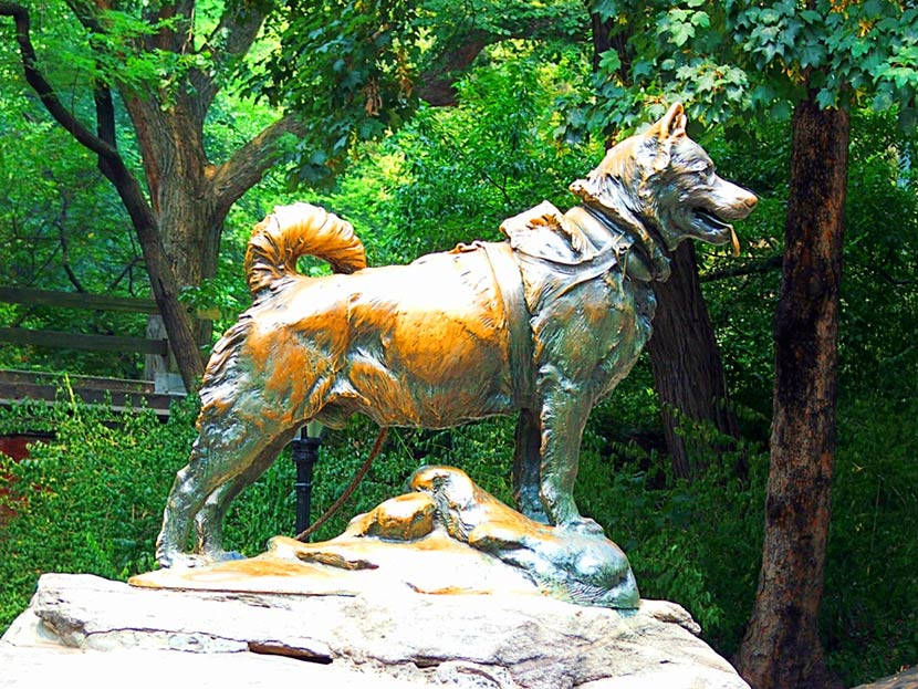 Statua di Balto a Central Park a New York