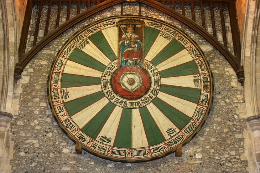Tavola Rotonda di Re Artù presso la Cattedrale Winchester in Cornovaglia