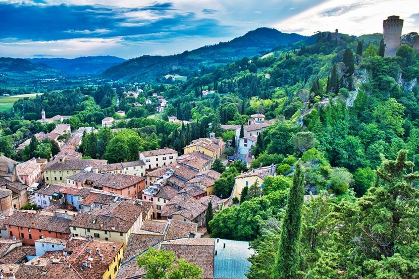 Panorama del Borgo di Brisighella