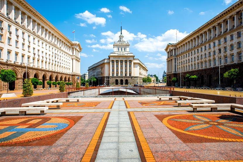 Piazza Narodno Sabranie a Sofia