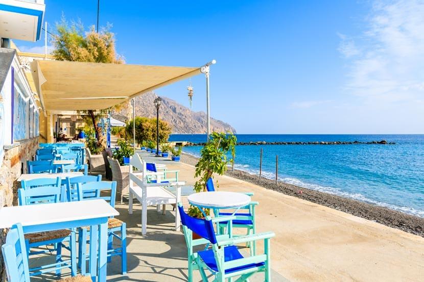 Il porto di Diafani sull'isola di Karpathos