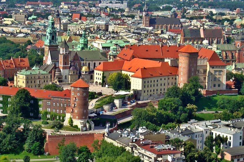 Collina Wawel a Cracovia