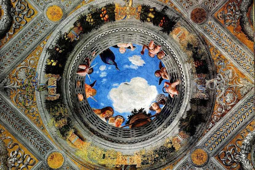 L'oculo di Andrea Mantegna, Camera degli Sposi all'interno del Castello di San Giorgio a Mantova