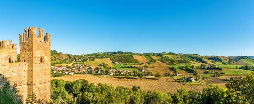 Panorama dal mastio della Rocca di Castell'Arquato
