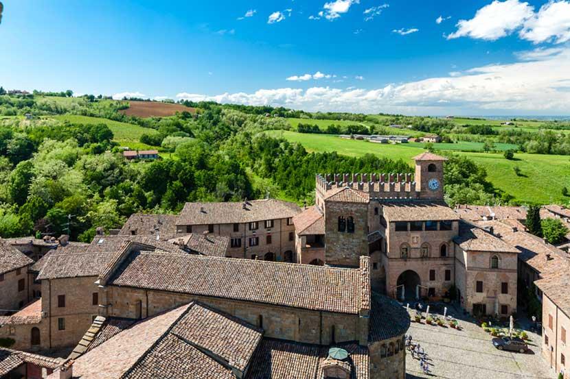 Panoramica sul borgo di Castell'Arquato