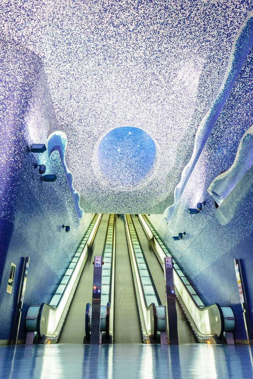 La bellissima Stazione Toledo a Napoli