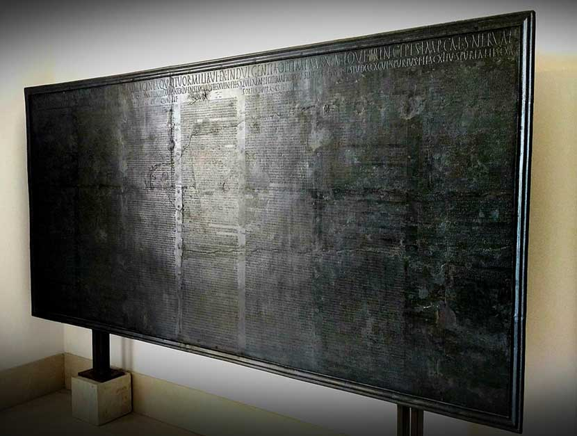 La Tabula alimentaria traianea a Veleia Romana