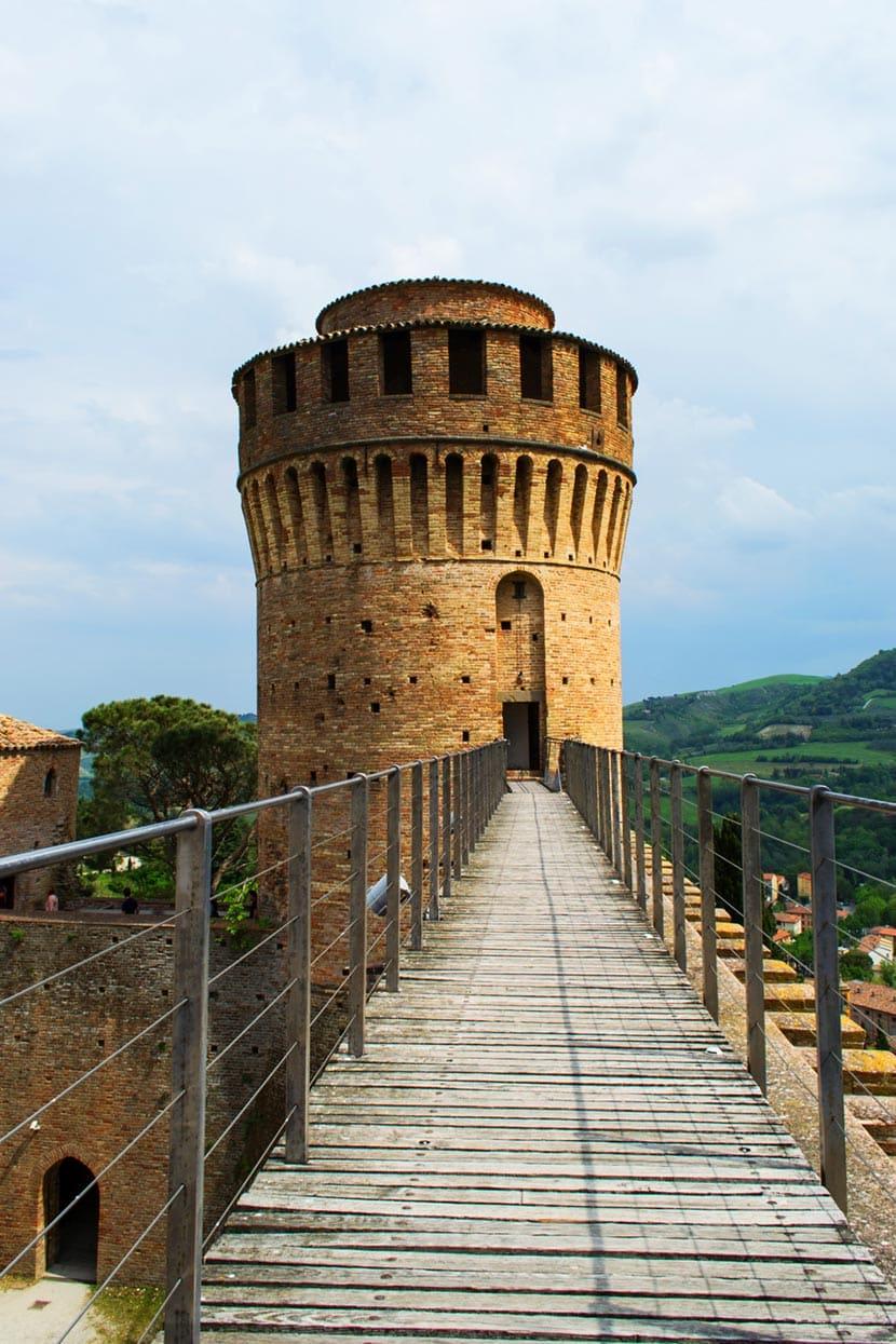 Passerelle che collegano le torri della Rocca Manfrediana a Brisighella