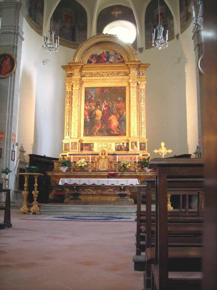 Pala d'altare all'interno del Santuario della Madonna dei Miracoli di Castel Rigone