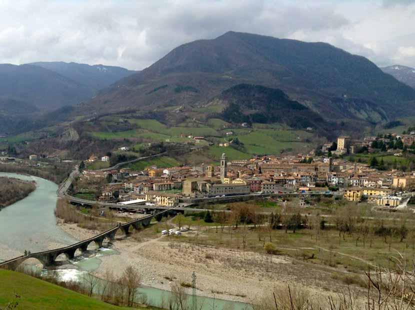 Panoramica del borgo di Bobbio
