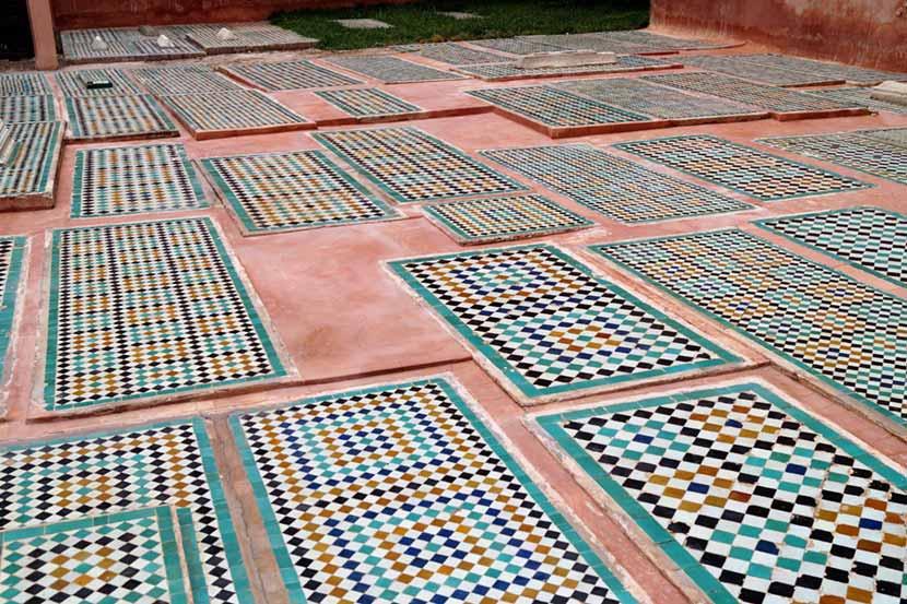 Dettaglio della pavimentazione delle Tombe Saadiane