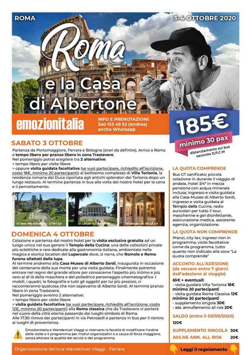 Viaggio-Organizzato-di-Gruppo-Roma-Alberto-Sordi-2020