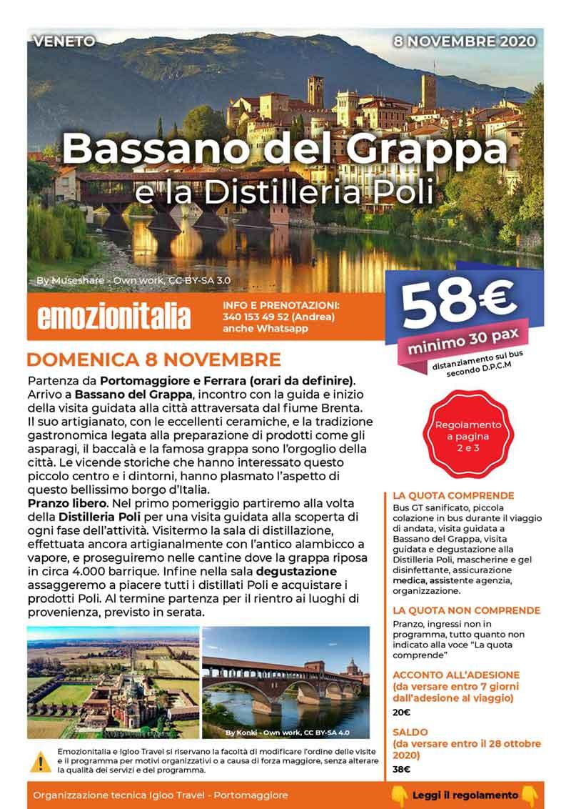 Gita-Organizzata-un-Giorno-Bassano-Grappa-Distilleria-Poli-2020