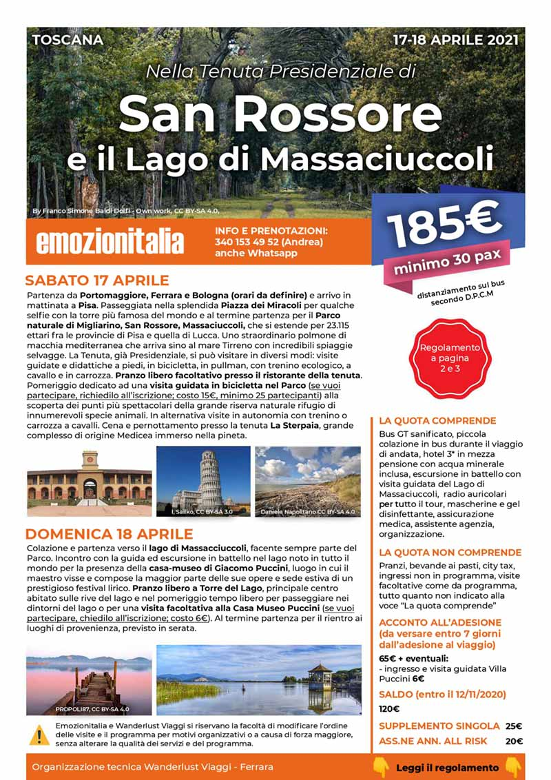 Viaggio-Gruppo-Organizzato-San-Rossore-Lago-Massaciuccoli
