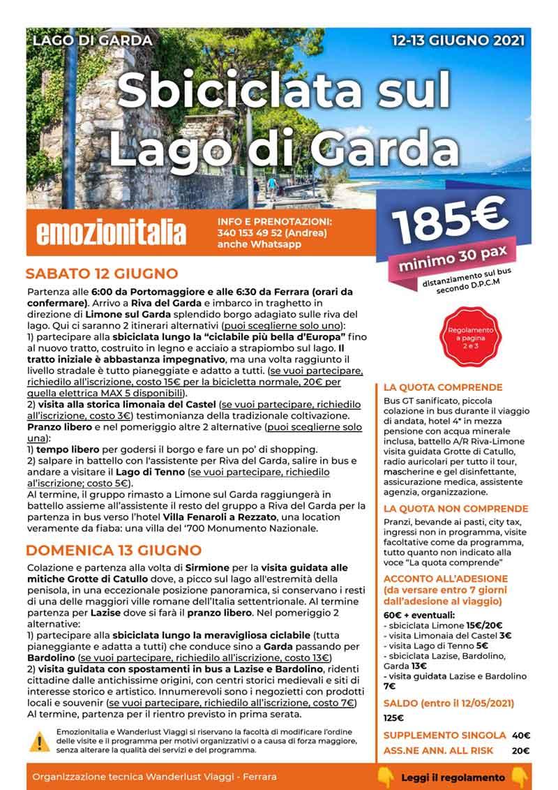 Viaggio-Organizzato-Gruppo-Sbiciclata-Lago-Garda-2021