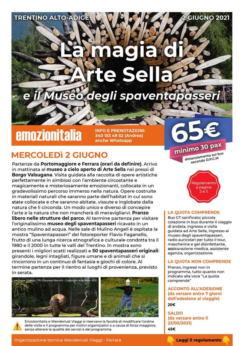 Gita-Organizzata-un-Giorno-Arte-Sella-Museo-Spaventapasseri-2021