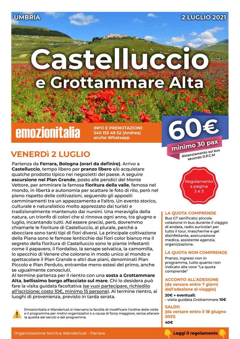 Gita-Organizzata-un-Giorno-Castelluccio-Norcia-Grottammare-Alta-2021-LUGLIO