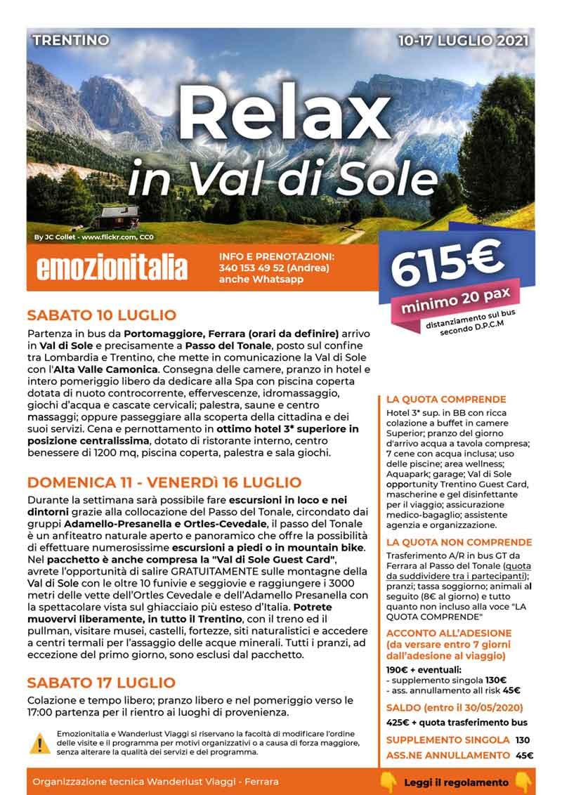 Soggiorno-Montagna-Relax-Val-Sole