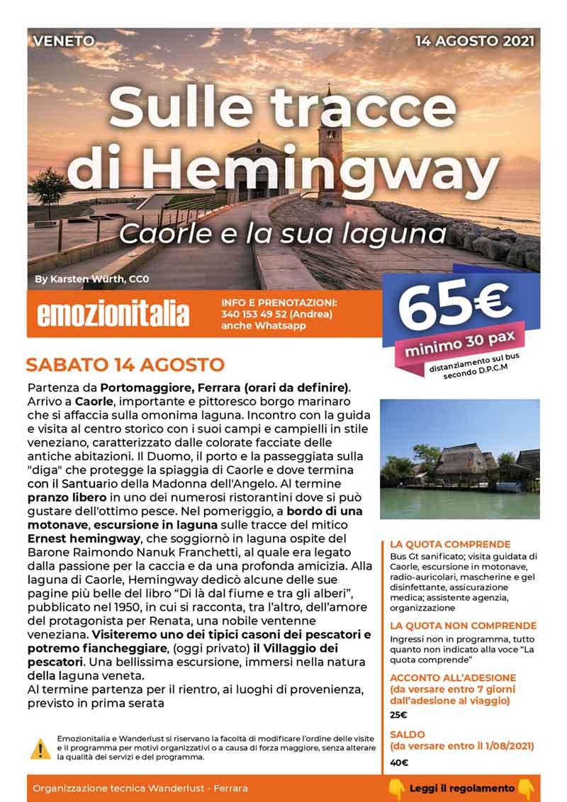 Gita-Organizzata-un-Giorno-Hemingway-Caorle-Laguna-2021